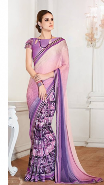 Lilac & Purple Combination Saree